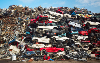 Scrap yard. A place who buys junk cars for cheap.
